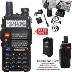 Portable BaoFeng BF-F8HP 8-Watt Dual Band Two-Way Radio w/Full Kit Large Battery in Consumer Electronics,Radio Communication,Walkie Talkies, Two-Way Radios | eBay