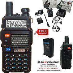 Portable BaoFeng BF-F8HP 8-Watt Dual Band Two-Way Radio w/Full Kit Large Battery in Consumer Electronics,Radio Communication,Walkie Talkies, Two-Way Radios | eBay