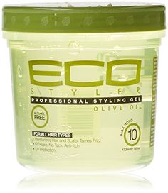 Eco Professional Styling Gel Olive Oil, 16 Ounce ECOCO