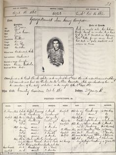 A police record from the 1800s