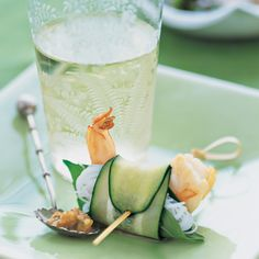We used Japanese cucumbers, which are very thin, for this dish. Other types, such as Persian or kirby cucumbers, would also work. Thinly slicing Japanese cucumbers lengthwise produces an unexpected wrap for shrimp, rice vermicelli, and Thai basil leaves.