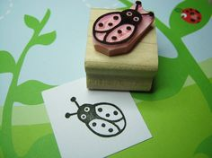 Cute Ladybird - Hand Carved Rubber Stamp