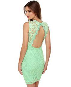 mint green & lace
