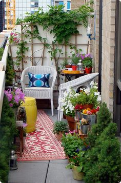My dream NYC apartment would include a cute little balcony just like this.