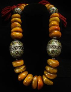 Moroccan Berber Copal Amber Necklace Traditional by june2six