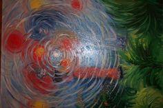 Jasmina Vladimirova, Constellation, 81x65 cm, Peinture à L'Huille sur toile, Exposition à Galerie  Aktuaryus à Strasbourg, 2003 (151), Disparue