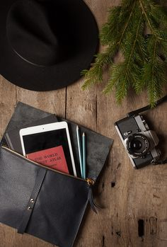 Handcrafted leather sleeves, available in 3 sizes (perfect for laptop, ipad, or phone)!