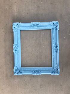 Ornate Picture Frames, Vintage Photo Frames, Empty Frames, Frames On Wall, Mirror Painting, Painting Frames, Shabby Chic Frames, Kids Wall Decor, Blue Pictures