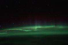 Auroras australes desde la Estación Espacial Internacional   El Universo Hoy