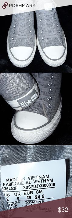 New Converse!👌Lowest Around! Great speckled grey! Converse Shoes Sneakers  Grey Converse d1193d6b3