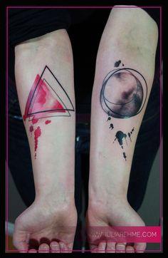 Geometric Tattoo, Watercolour