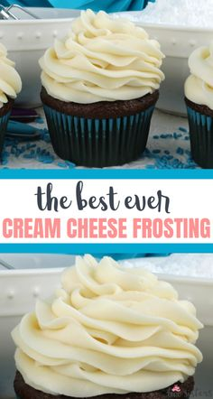The Best Cream Cheese Frosting - everyone needs a great cream cheese frosting recipe and this one won't disappoint. Sweet and creamy and delicious. Icing Recipe, Frosting Recipes, Best Buttercream Frosting, Cute Cupcakes, Cream Cheese Frosting, Frostings, No Bake Desserts, Bakery, Cooking Recipes