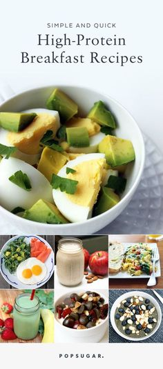 quick breakfast If you are looking to lose weight or get more protein in your diet, a healthy breakfast is a must. These quick breakfast recipes take under 10 minutes to prep, and contain at least 15 grams of protein. Quick High Protein Breakfast, Protein Dinner, Healthy Breakfast Recipes, Healthy Snacks, Healthy Eating, Healthy Recipes, Quick Breakfast Ideas, Breakfast Snacks, Healthy Breakfasts