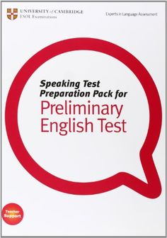 Speaking test preparation pack for Preliminary Englist Test : [Teacher support]. University of Cambridge, ESOL Examinations, 2010 English Exam, English Grammar, Teaching English, Test Exam, Test Preparation, Learn To Read, Esl, Book Design, Cambridge
