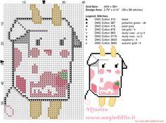 Carton of milk (Tokidoki) cross stitch pattern