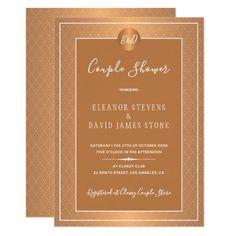 Elegant Luxury Gold Monogram Wedding Couple Shower Invitation Couples Shower Invitations, Elegant Invitations, Custom Invitations, Party Invitations, Invitation Kits, Couple Shower, Glitter Wedding, Monogram Wedding, Wedding Couples