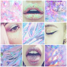 Holographic fairy aesthetic Mood board