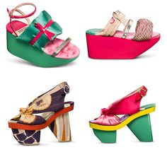 Inspired by the traditional Japanese sandals, Geta, the Japanese fashion designer Kenzo Takeda proposed his new pretty, colorful and adorable Spring Summer 2011 Shoes collection.