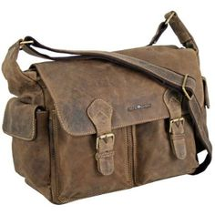 Greenburry Vintage Messenger Leder 34 cm sattelbraun: Amazon.de: Schuhe & Handtaschen