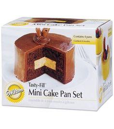 Wilton Tasty-Fill Mini Cake Pan Set-4/Pkg