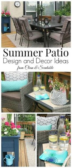 Great summer patio ideas! Includes DIY projects and garden-inspired design tips.