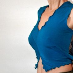 blue lace Tango top jersey stretchy by PamelaCreazioni, €30.00