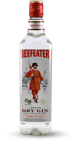 One of the most historic names in gin is Beefeater… Gin Gifts, London Dry Gin, Martini, Vodka Bottle, Packaging, Lovers, Collection, Wrapping, Martinis