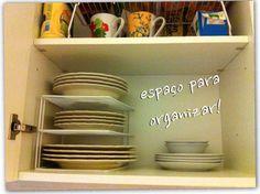 Ideias para organizar a sua casa, armarios, banheiros e cozinhas! Organizacao é tudo de bom!