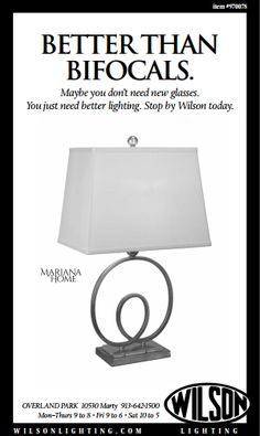 It's lamp season!  Stop by our showroom and see our selection of lamps!