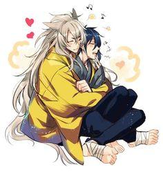 KogiMika #Kogitsunemaru #Mikazuki ♥♥♥ Anime Love, Anime Guys, Manga Art, Manga Anime, Touken Ranbu Mikazuki, Shounen Ai, Anime Fantasy, Fujoshi, Doujinshi