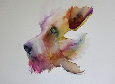 Dogs in Art at the StockBridge Gallery - 'Please' Terrier Watercolour by Jean Haines, SOLD (http://www.dogsinart.com/please-terrier-watercolour-by-jean-haines/)