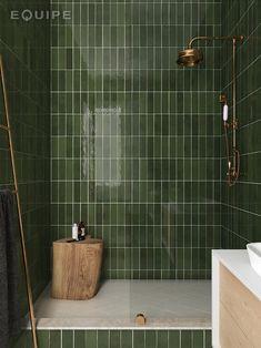 La Riviera Botanical Green x Bad Inspiration, Bathroom Inspiration, Bathroom Trends, Bathroom Ideas, Color Tile, Bathroom Interior Design, Bathroom Designs, My New Room, Wall Tiles