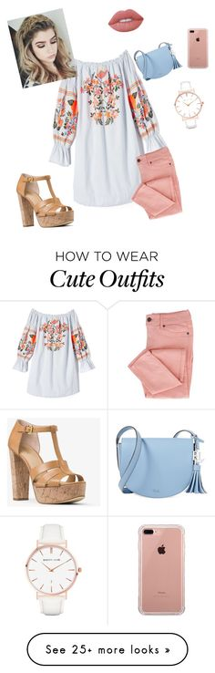 """""""my mom's outfit"""" by dobby1935 on Polyvore featuring Free People, MICHAEL Michael Kors, Lauren Ralph Lauren, Abbott Lyon, Lime Crime and Belkin"""