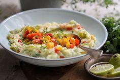 Lecker und alltagstauglich: veganes Kartoffelpüree mit bunter Ofen-Paprika