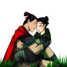 Mulan and Shang cute !!