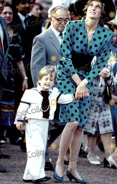 Prince William and his mother, Princess Diana. Woop