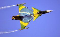 Ecstatic with their Gripens, the Brazilian AF was only too accommodating . Military Jets, Military Aircraft, Air Fighter, Fighter Jets, Saab Jas 39 Gripen, Brazilian Air Force, Swedish Air Force, Aircraft Painting, Aircraft Photos