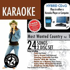 ASK-98 Karaoke: Most Wanted Country W/Karaoke Edge, Garth Brooks, George Strait, Taylor Swift