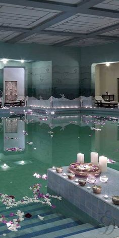 -Exquisite Spa at: Umaid Bhawan Palace, Jodhpur, India. - I want to go to a spa Spa Design, House Design, Design Hotel, Bath Design, Design Ideas, Spas, Umaid Bhawan Palace, Best Spa, Dream Pools