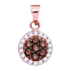 10k Rose Gold 0.40Ctw Diamond Fashion Pendant