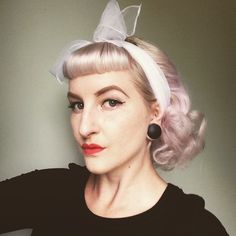 How gorgeous does @lulu_dolll look?! Love the pale hair color plus a great hairstyle! #suavecitapomade #suavecita #pincurls #curls #pinuphair #hair #hairstyle #foamrollers #rollers #vintage #pinup #rockabilly #chiffon #headscarf #accessories #suavecitabeauty #beauty #beautiful