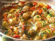 Romanian Food, Romanian Recipes, Vegetarian Recipes, Healthy Recipes, Healthy Food, Kung Pao Chicken, Bacon, Good Food, Food And Drink