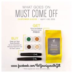Loving our April Kudos, these Shine wipes are fantastic and yours for FREE with the For Your Eyes bundle  www.youniqueproducts.com/GillMartiniPullen