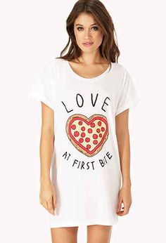 Forever 21 Pizza Lover Sleep Shirt, $10.80 | 25 Adorable Gifts For Your Valentine For Under $25 this sums up all my deepest feelings.