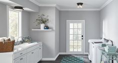 Bright light wall sconces lights for laundry room fixtures lamps bedroom lighting ideas home depot small Mudroom Laundry Room, Laundry Room Shelves, Large Laundry Rooms, Laundry Room Cabinets, Small Laundry, Small Rooms, Laundry Room Lighting, Bedroom Lighting, Laundry Room Design