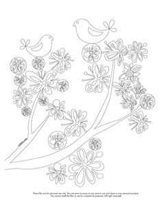 Happy Belated Coloring Monday Here Your Page Valentinadesign Images Printables Bird 09 VHpdf Enjoy It