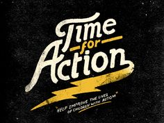 Dribbble - Time for Action by Nathan Yoder