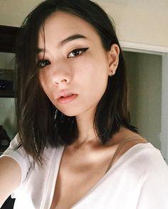 Lauren Tsai, illustrator and model, cast member of Terrace House: Aloha State Beauty Makeup, Eye Makeup, Hair Makeup, Hair Beauty, Cool Hairstyles For Girls, Bob Hairstyles, Asian Hairstyles, Makeup Course, Asian Makeup