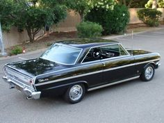 1963 Chevy Nova Ss | 1963 Chevrolet Nova SS Hardtop Black California Plates For Sale Rear