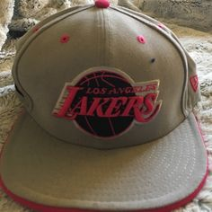 New Era Lakers Hat  GO LAKERS!!! Sport this gray and pink hat and represent your team New era Accessories Hats